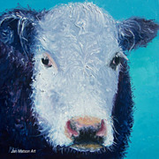 Cow Painting 'Camomile' oil painting by Jan Matson