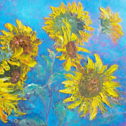 Sunflowers oil painting by Jan Matson