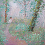 SALE Landscape Oil Painting 'A Wood Nymph' by Jan Matson