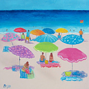 Beach Painting 'Beach Umbrellas'  Beach Decor by Jan Matson