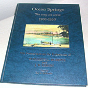 SOLD Postcard Book Town Views Ocean Springs, Mississippi 1900-1950