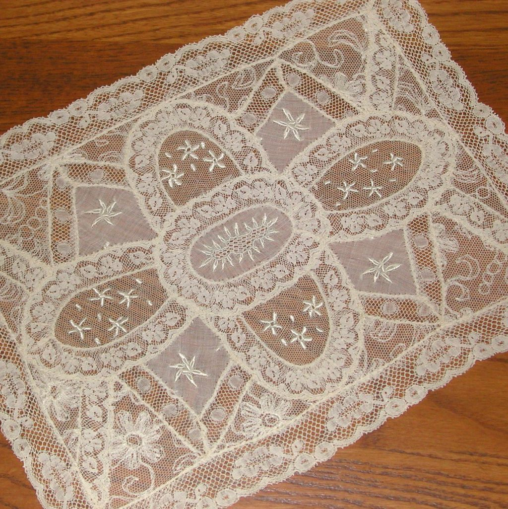 normandy lace dresser scarf doily from lllemon on
