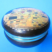 Vintage Fausto Corduri Leather Trinket Box - Florence, Italy