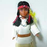 Native American Hard Plastic Indian Maiden - 8""