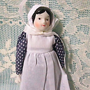 Lovely Traditional Mennonite Porcelain/Soft Body Girl Doll
