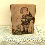 "Swedish Music Box With German Hummel Print ""Want Some"""