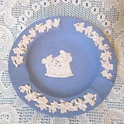 Vintage Wedgwood England Blue Jasperware Ash Tray