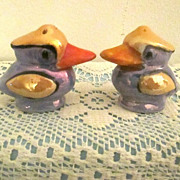 Figural Duck Salt & Pepper Shakers Hand Painted From Japan