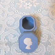 Princess Margaret Wedgwood Blue Pill Box - England