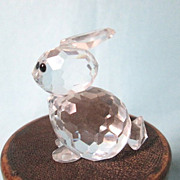 REDUCED Vintage Swarovski Silver Crystal Miniature Rabbit