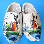 Wooden Hand-Painted Clogs Made In Holland - Size 15/24