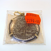 SOLD 8 Reale Atocha Shipwreck Coin 14 Karat Gold Pendant with COA Mel Fisher