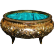 Oval Ormolu Jewelry Casket Trinket Box