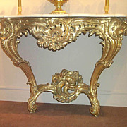 French Louis XV Gilt Wood Console Table, c. 1750-60