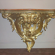 Venetian Gilt Wood Console Table w.o. Marble Top, c. 1860s