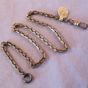Victorian SIMMONS Pocket Watch Chain 14&quot; Gold Filled
