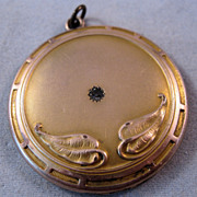 REDUCED Victorian Art Nouveau Locket Gold Filled Antique