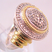 REDUCED Estate 1/2 Carat Diamond Sterling Gold Ring Size 6