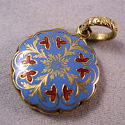 REDUCED Georgian 14K Enamel Hair Locket Memorial Dated Nov. 17, 1828