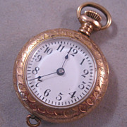 Knickerbocker Ladies Pocket Watch New York Gold Filled Antique