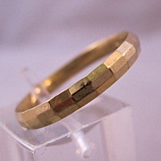 14K Wedding Ring Band Engraved Design Unisex Mens Ladies Size 10 1/2 Estate