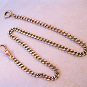 Edwardian Pocket Watch Chain Rose Gold Filled 13 1/2&quot;
