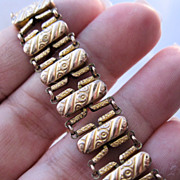 Edwardian Gold Filled Stretch Bracelet Dated 1904 1905