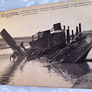 (18)  WW I Era Real Photo Postcard of Ruins of France