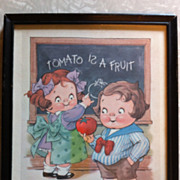 Framed Campbell's  Soup Kids Print