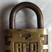SALE Vintage No. 1 RFD Brass Padlock from Post Office