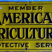Vintage Metal Farm Sign