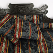 Victorian ebonized carved feinting couch