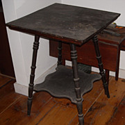 Antique colonial era tavern table original finish