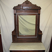 SALE Victorian bedroom dresser, marble top chest, mirror, candle shelves, charming