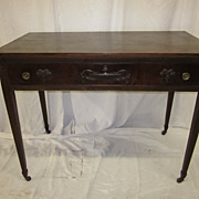Federalist era, French reading table, graceful desk, dark wax patina, circa 1820