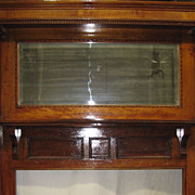 SOLD Victorian mantel , mantelpiece , crown, mirror, fluted columns