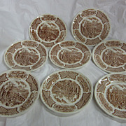 (8) Alfred Meakin's &quot;Fair Winds&quot; Bread and Butter Plates...Staffordshire, England