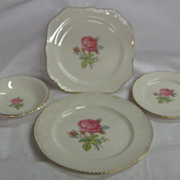 SALE (4) Pcs. China...Homer Laughlin &quot;Calirose&quot; Pattern...1949-1950