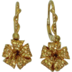 Estate 18K Yellow Sapphire Earrings Garrard Hummingbird Collection
