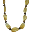 14K Gold Citrine & Tiger's Eye Necklace