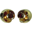 Retro Garnet 14K Earrings