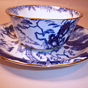 Royal Crown Derby BLUE MIKADO Cup and Saucer Set