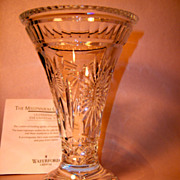 Stunning Waterford Crystal 5-Toasts Millenium Vase