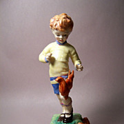 Royal Worcester &quot;OCTOBER&quot;, Boy with Squirrels Figurine