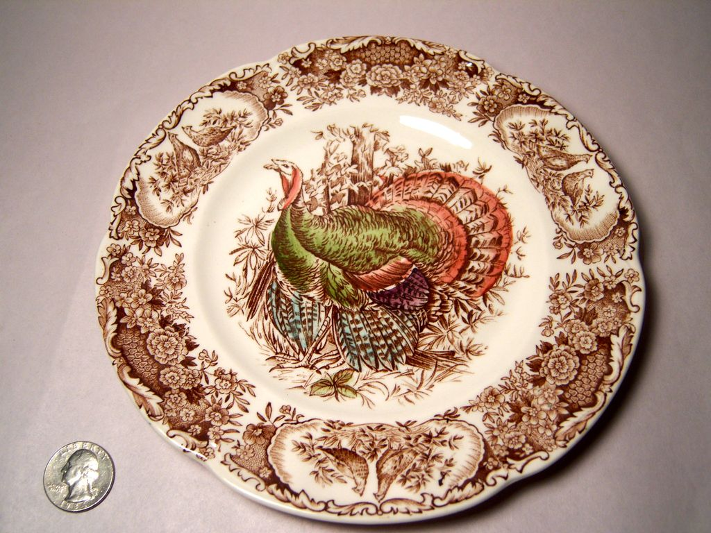 Johnson Bros. Wild Turkeys Brown, Native American Salad Plate
