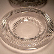 Gorgeous Vintage Cut-Crystal Rim Soup Bowls, Set 4