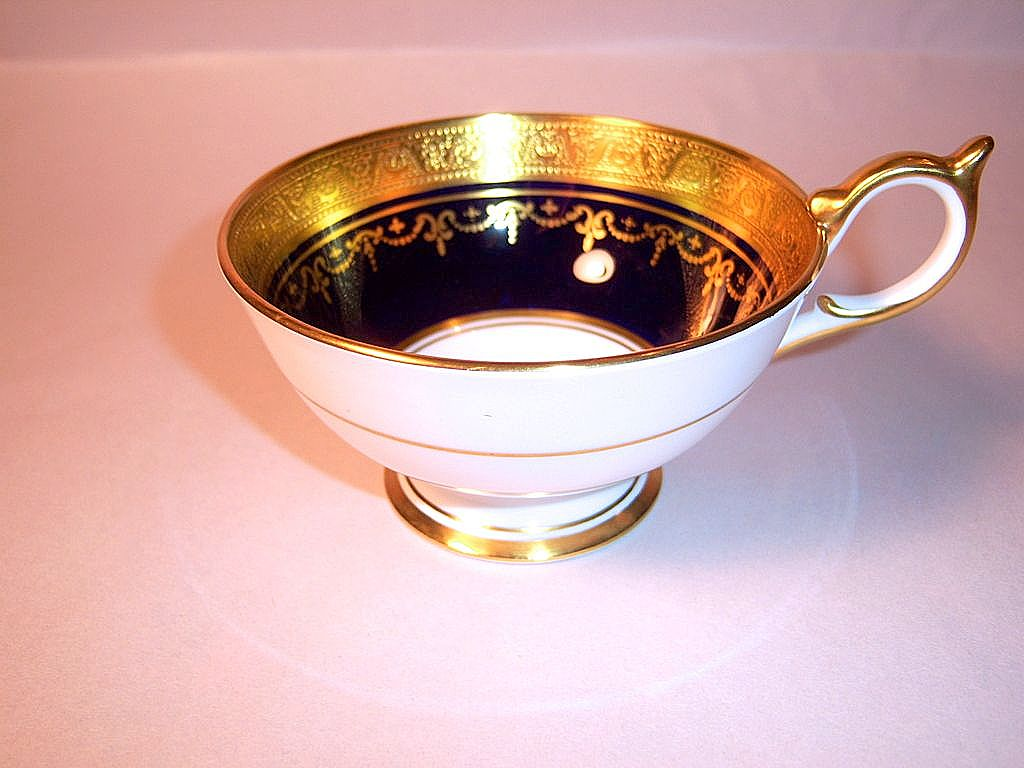 Aynsley Georgian #7348 Cobalt and Gold China Cup Only