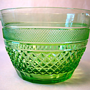 Stunning Green Cut Crystal Wine Rinser or Cooler
