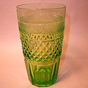 Stunning 19th Century Green Cut Crystal Tumbler
