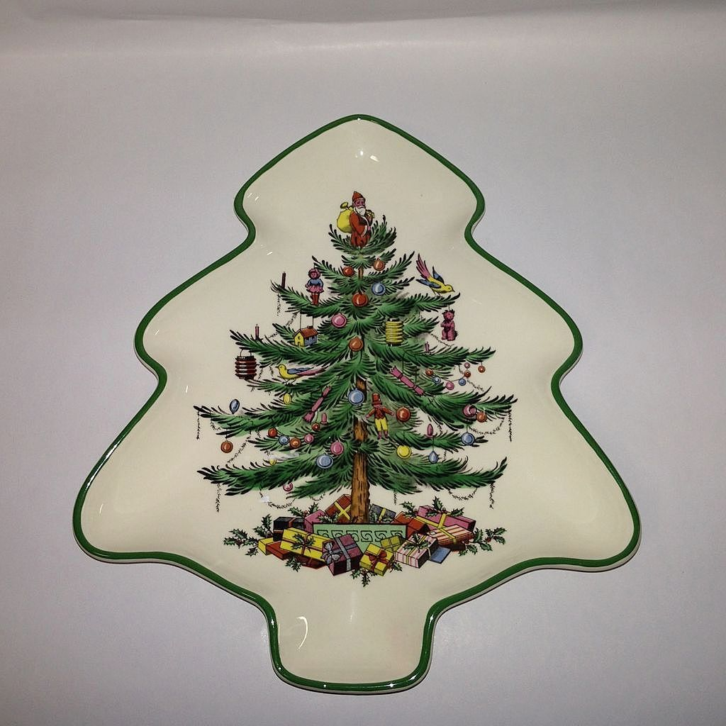 Spode quotchristmas treequot tree shaped tray from for Christmas tree tray floor